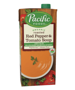 Organic Light Sodium Creamy Roasted Red Pepper & Tomato Soup - 1L
